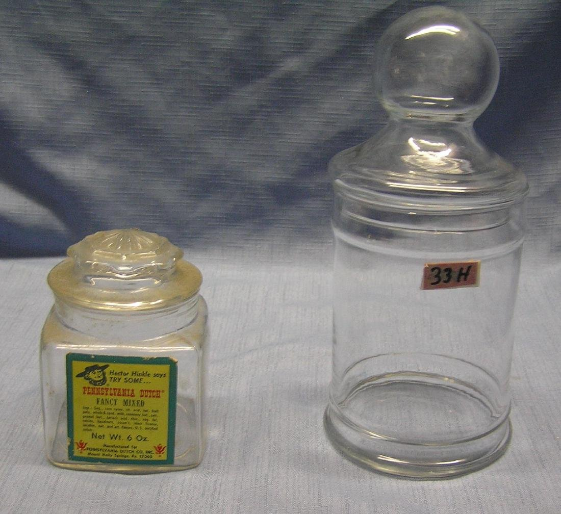 Pair of country store candy jars