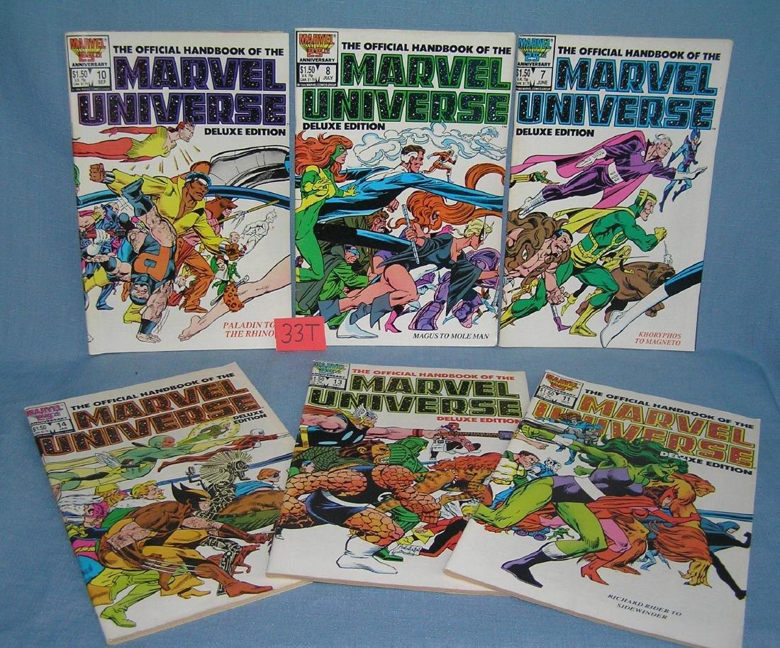 Group of vintage Marvel Universe comic books