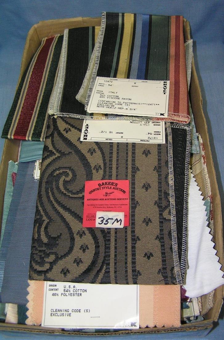 Box full of vintage linens