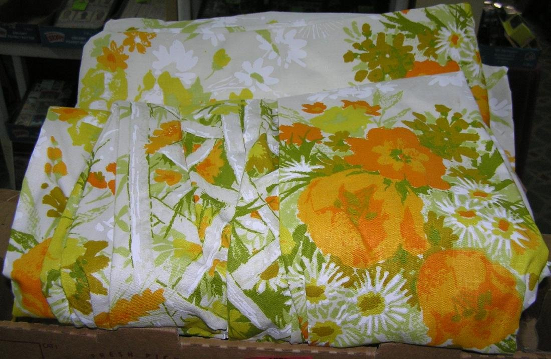 Large box full of drapes and curtains