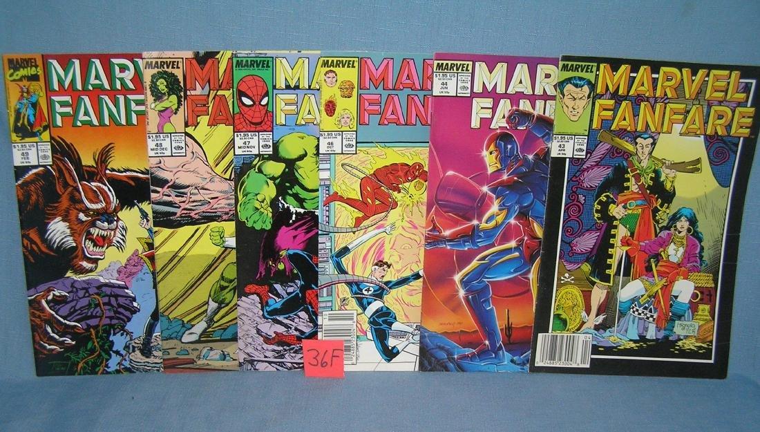 Group of vintage Marvel Fanfare comic books