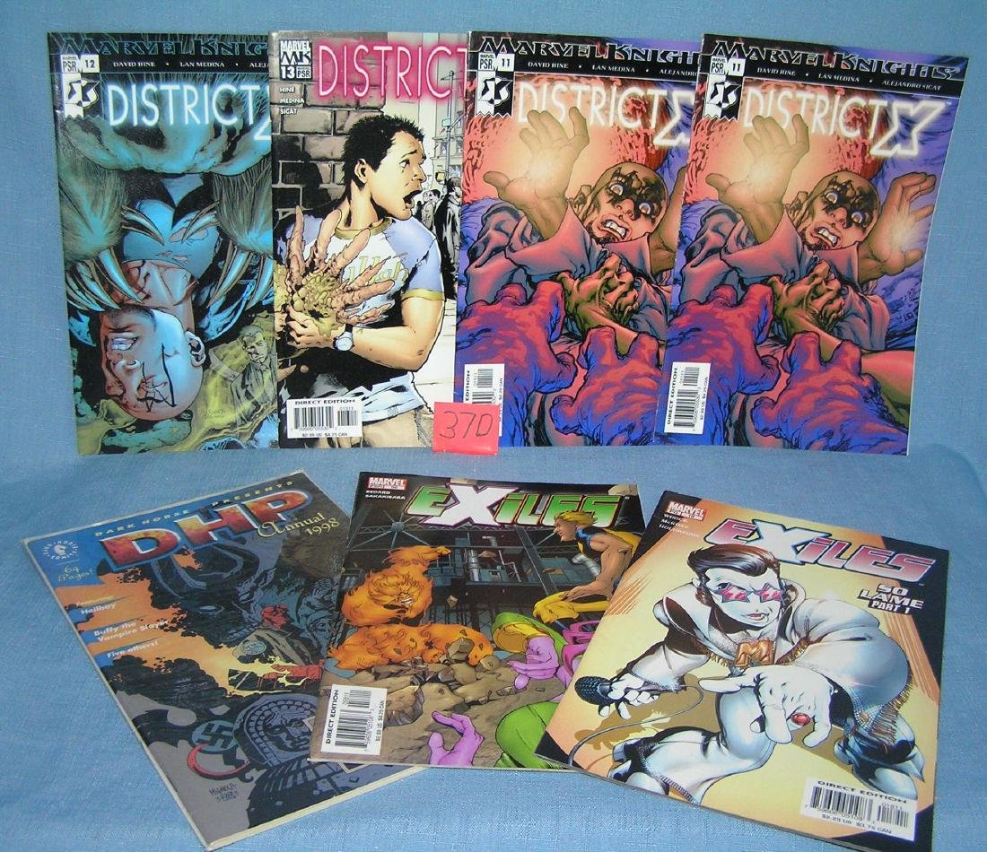Group of Marvel and Dark Horse comic books