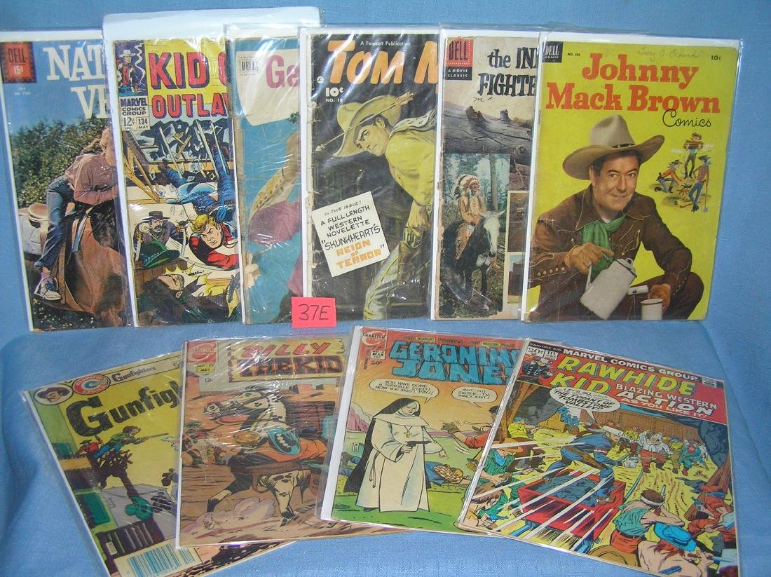 Collection of early western comic books