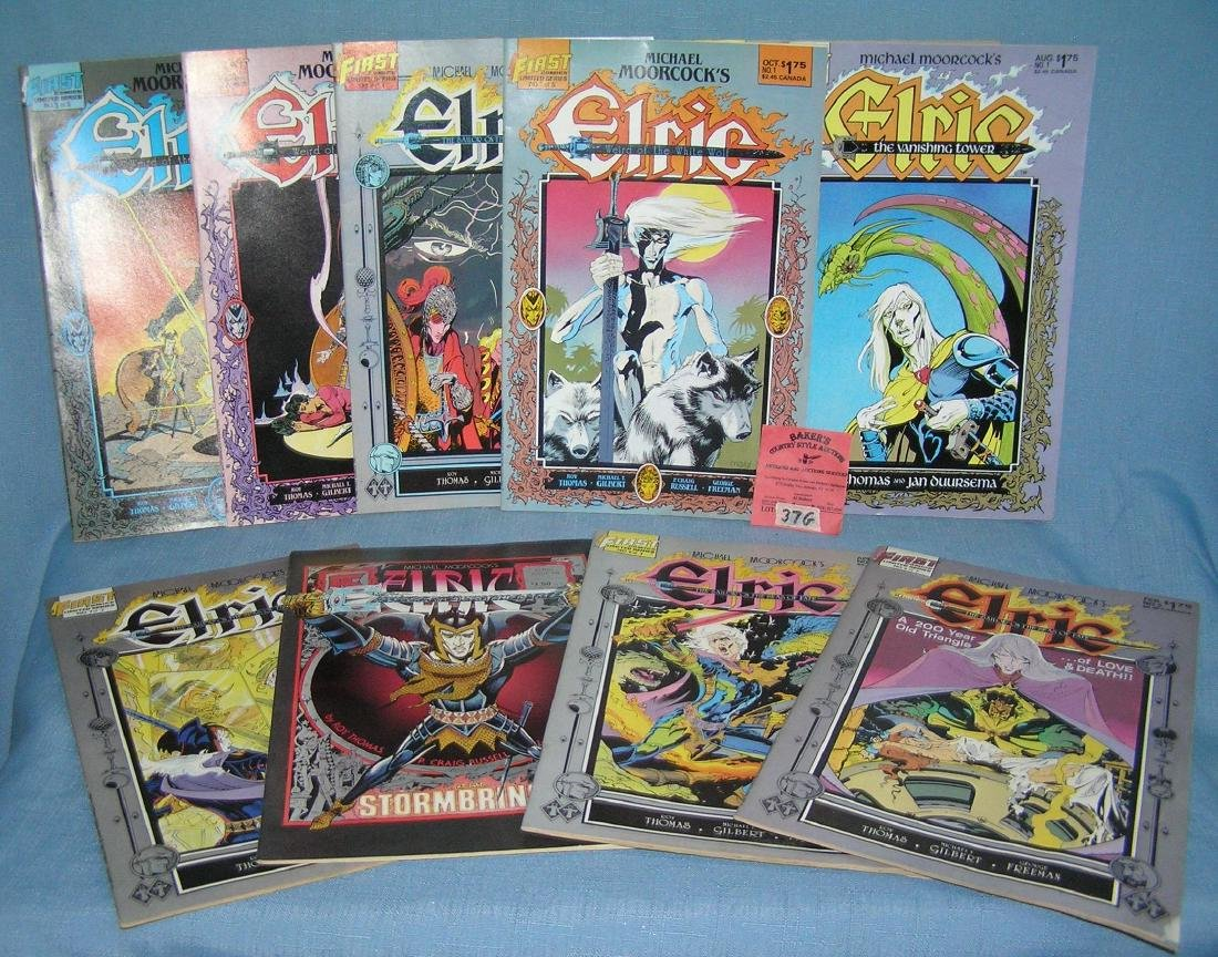 Group of vintage Elric weird of the white wolf comic