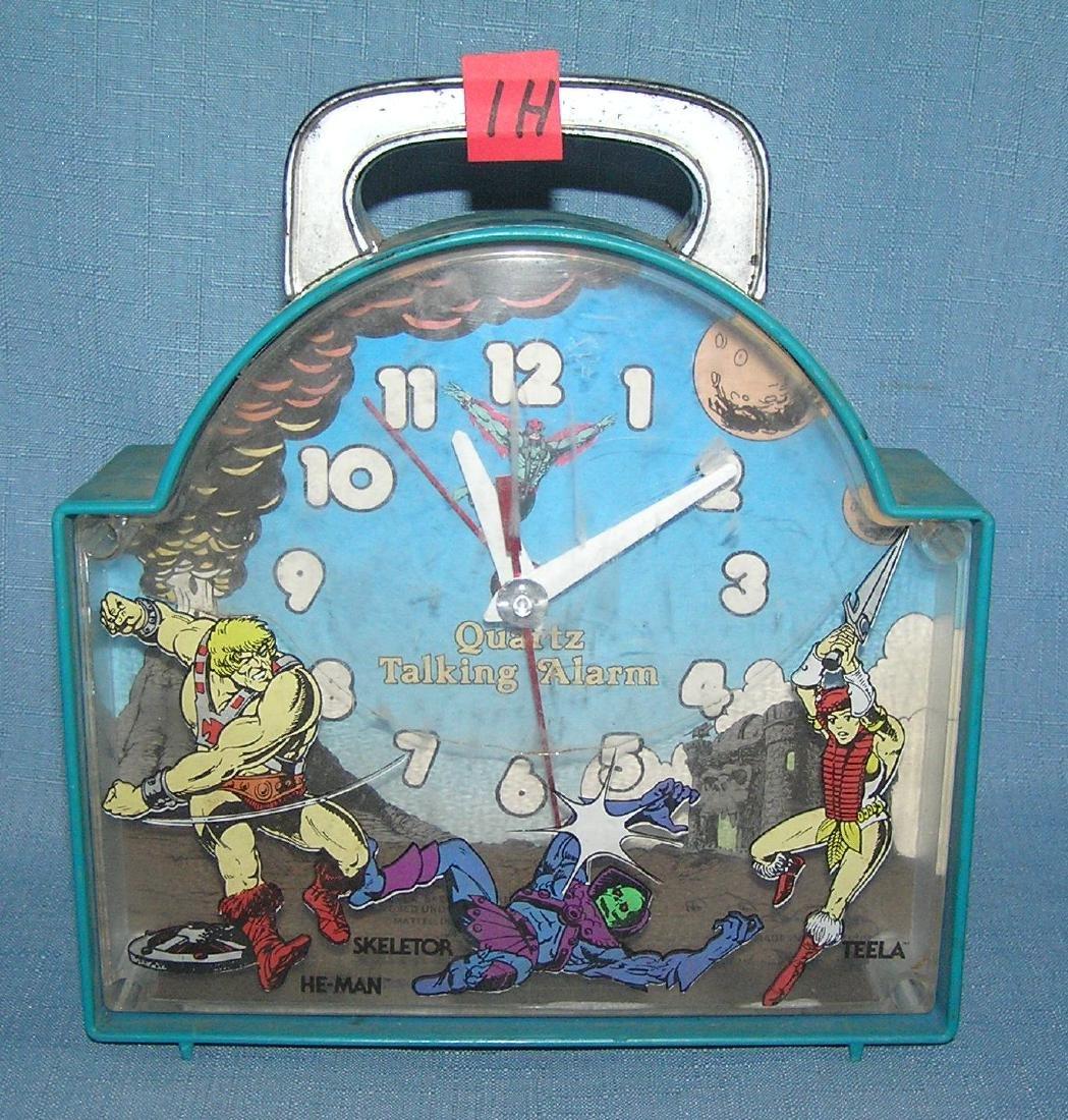He-Man action figure talking alarm clock