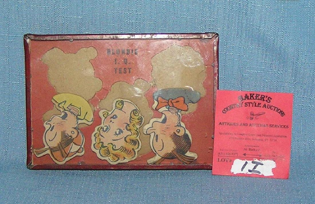 Antique Blondie and Dagwood dexterity toy - 2