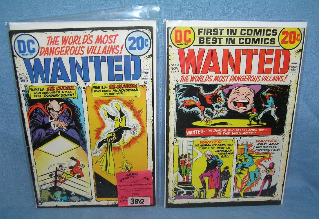 Pair of early DC comic books