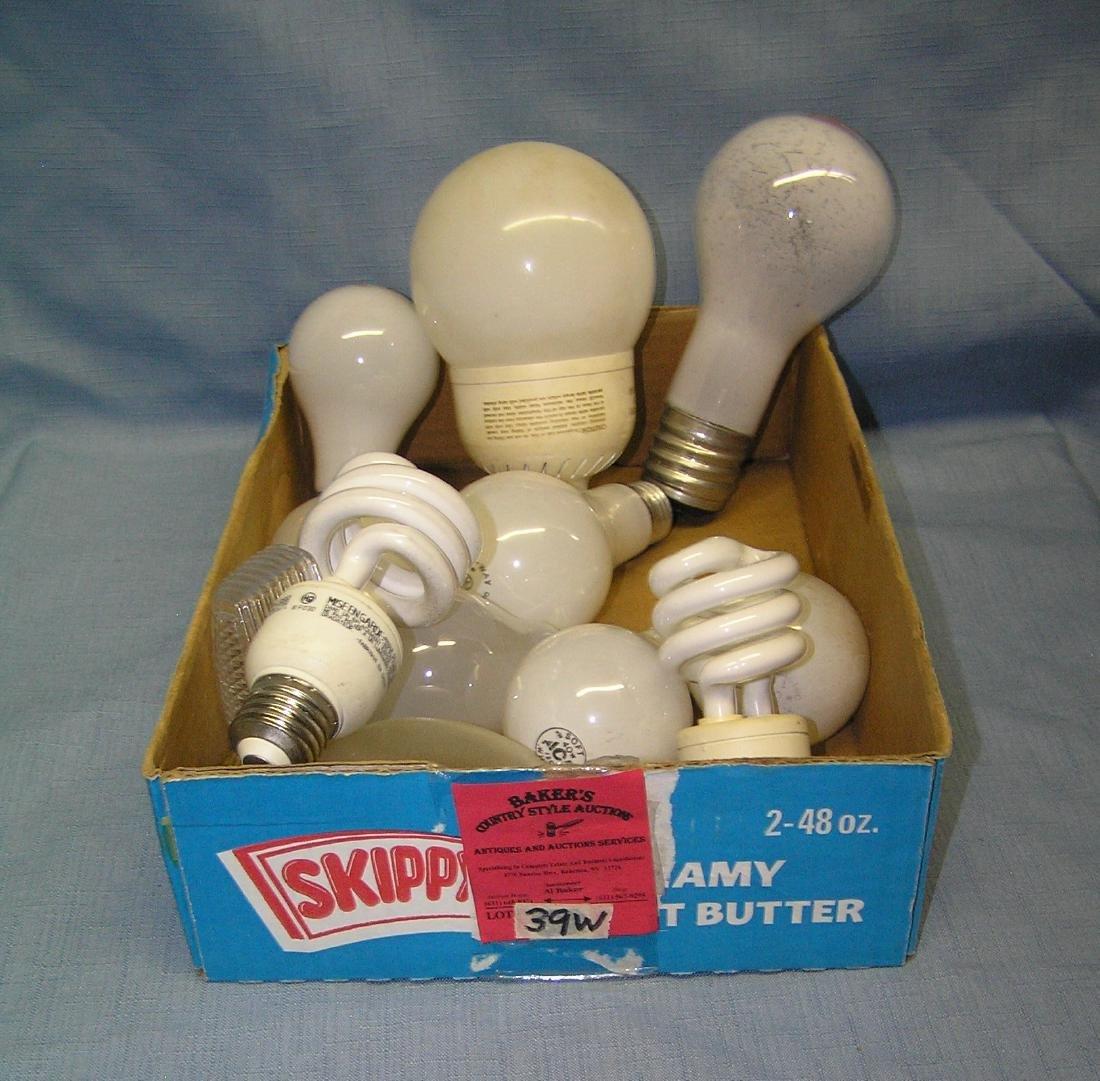 Box full of estate found light bulbs
