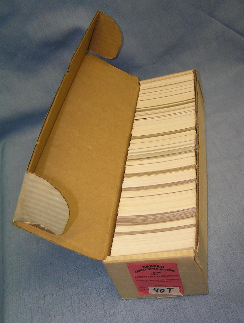 Box full of vintage baseball cards