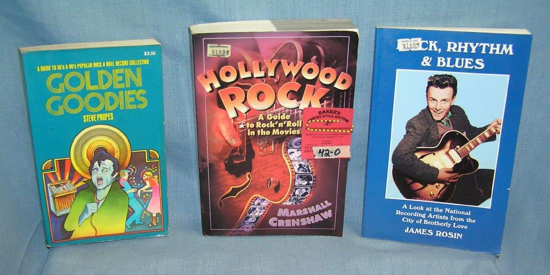 Group of vintage Rock and Roll books