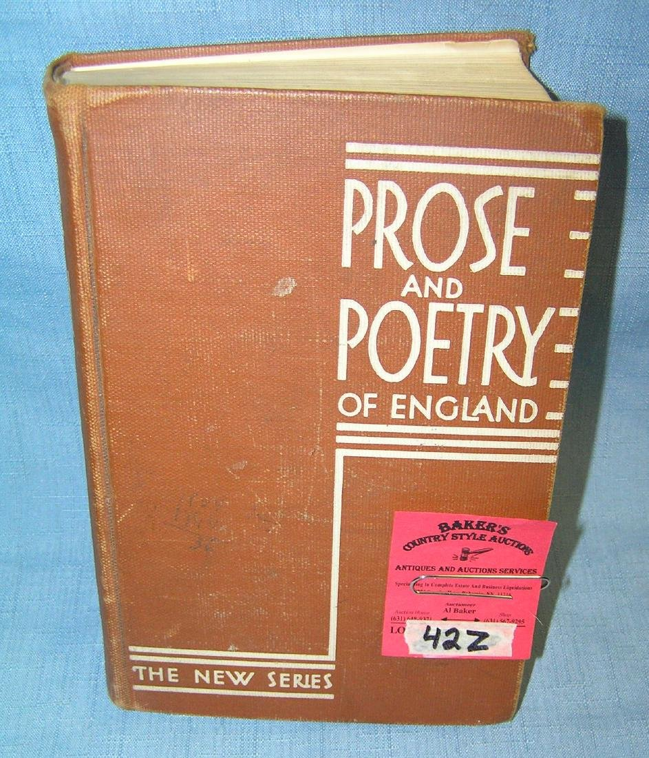 Prose and Poetry of England the new series circa 1935