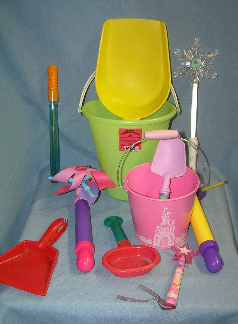 Large pail full of children's toys