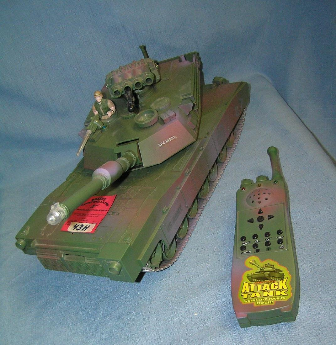 Battry operated remote controlled attack tank