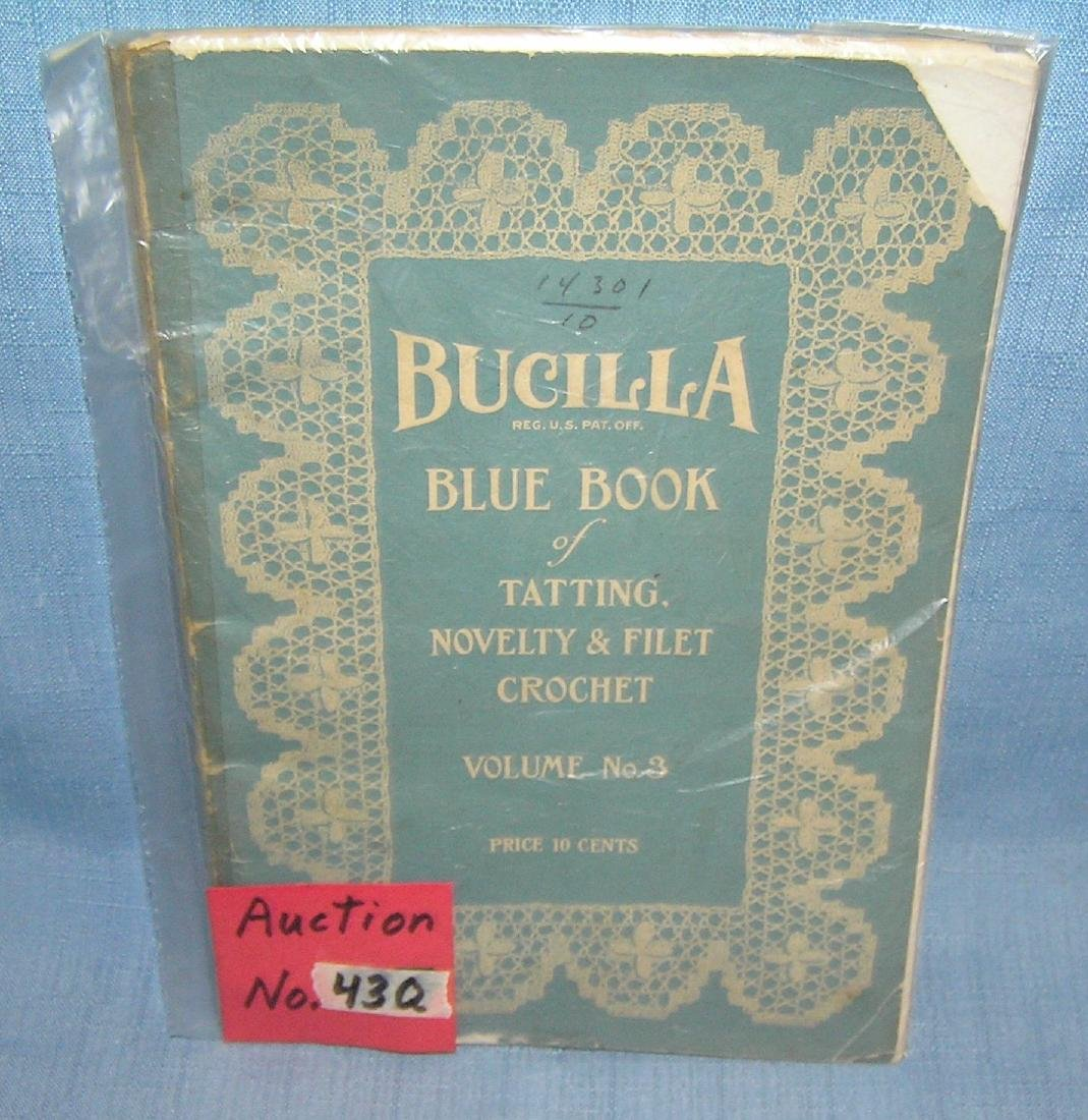 Bucilla blue book of tatting, novelty and filet crochet