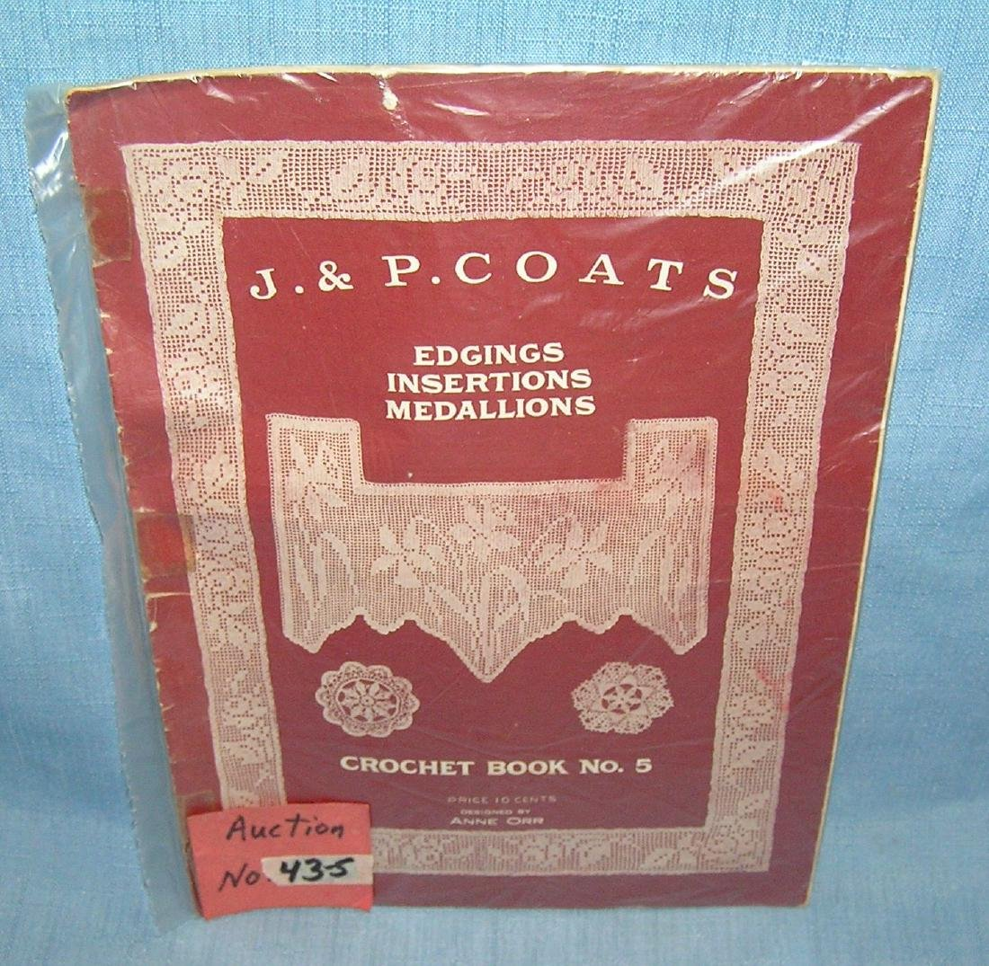 J & P Coats crochet book No. 5 designed by Anne Orr