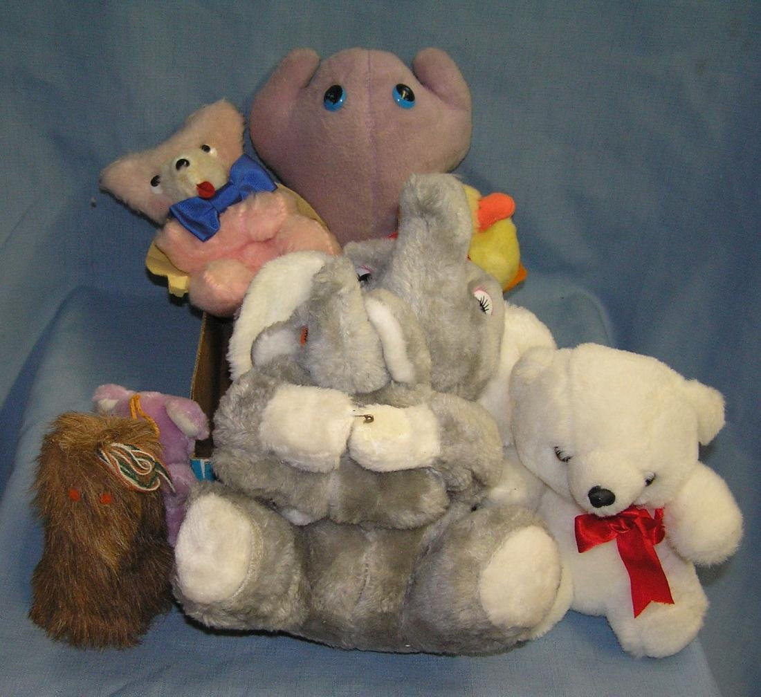 Box full of collectible toys