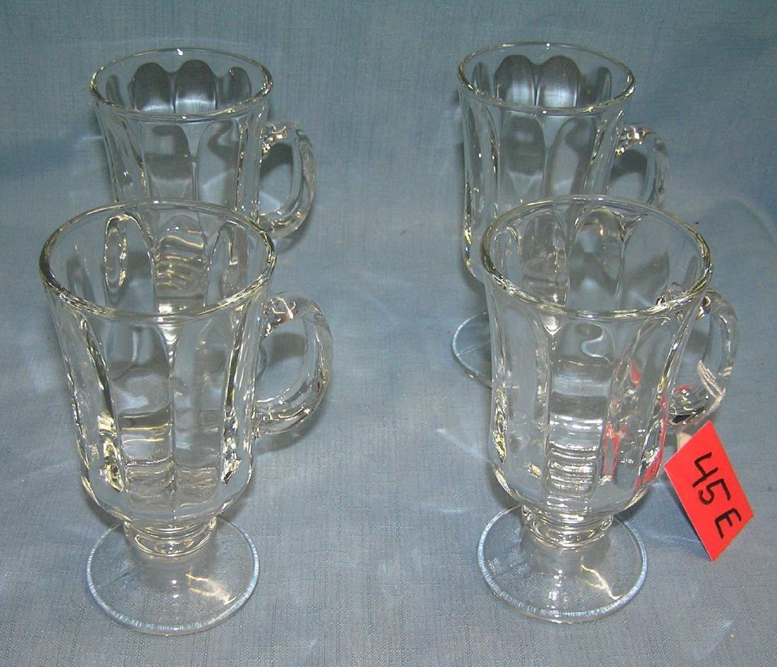 Set of crystal glass mugs