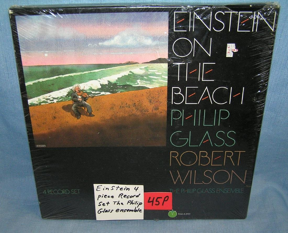 Einstein 4 piece record set Philip Glass Ensemble