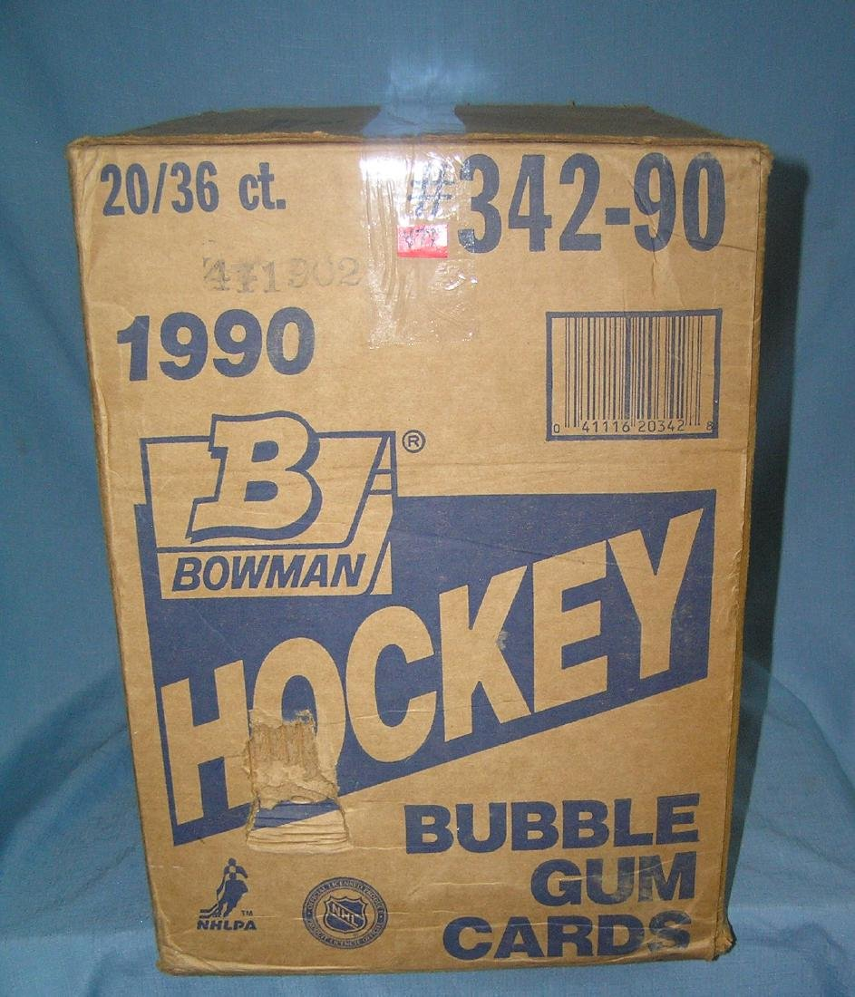 20 boxes of 1990 Bowman premier hockey cards