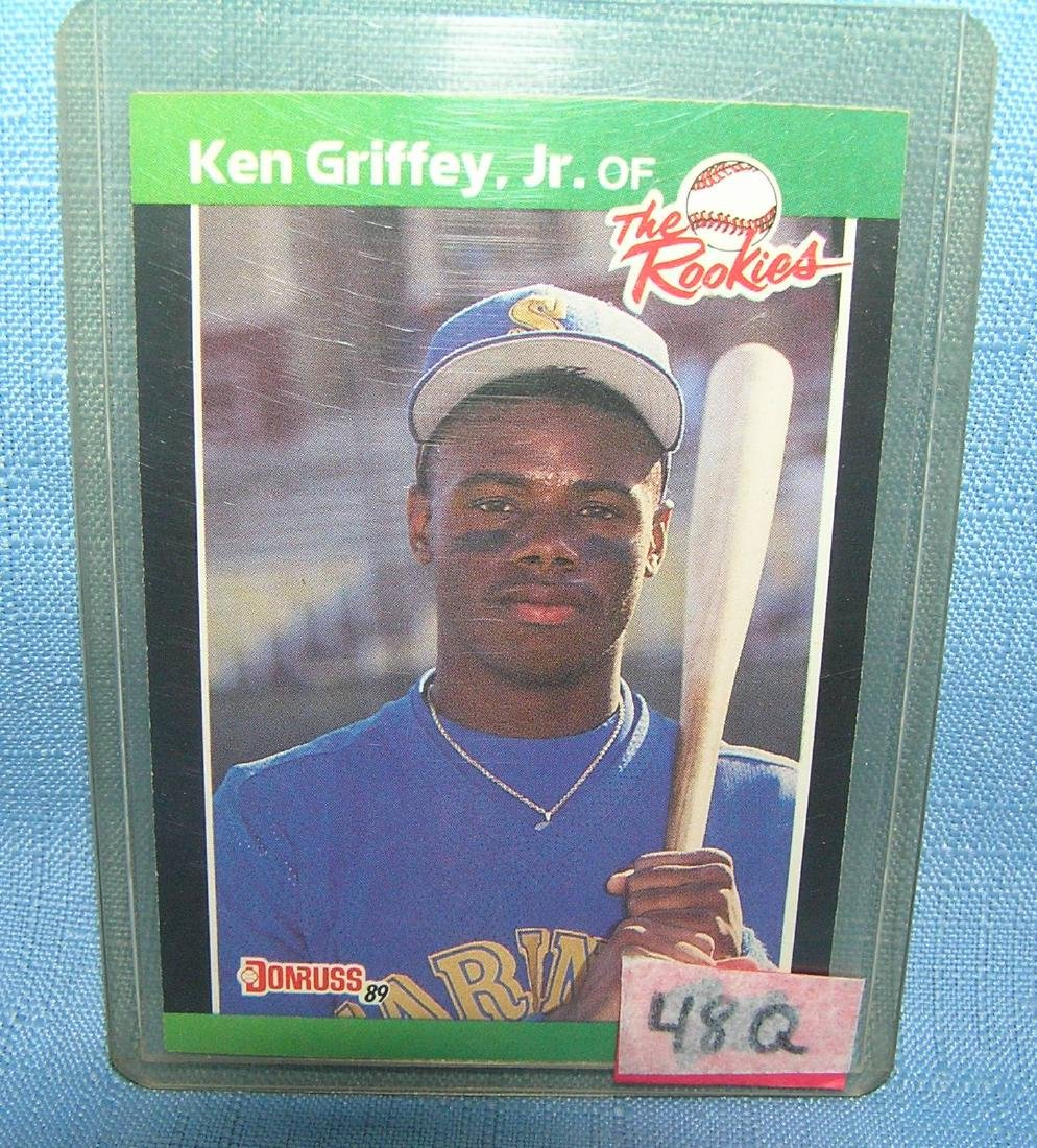Ken Griffey Jr. rookie baseball card
