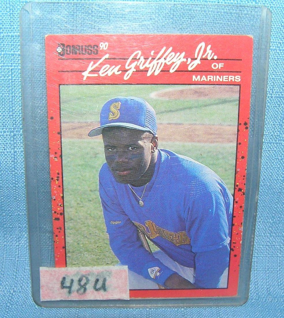 Ken Griffey Jr. rookie baseball card