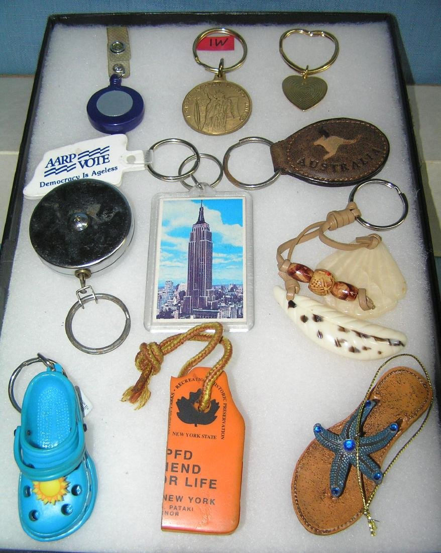 Collection of key chains