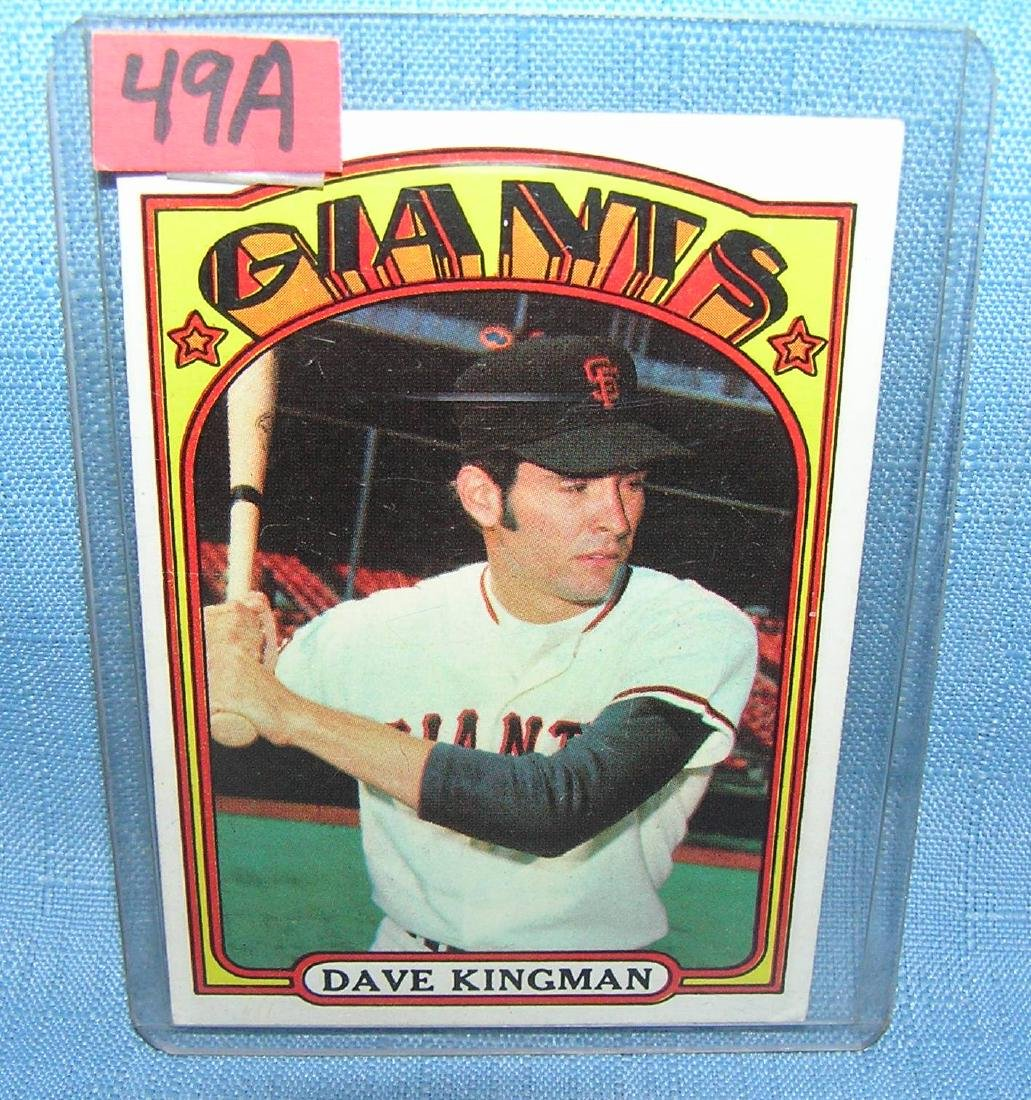 Dave Kingman 1972 Topps rookie card