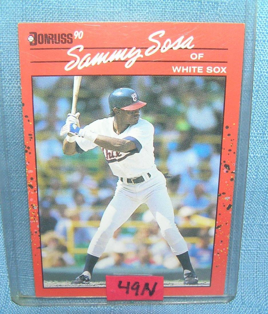 Sammy Sosa rookie baseball card