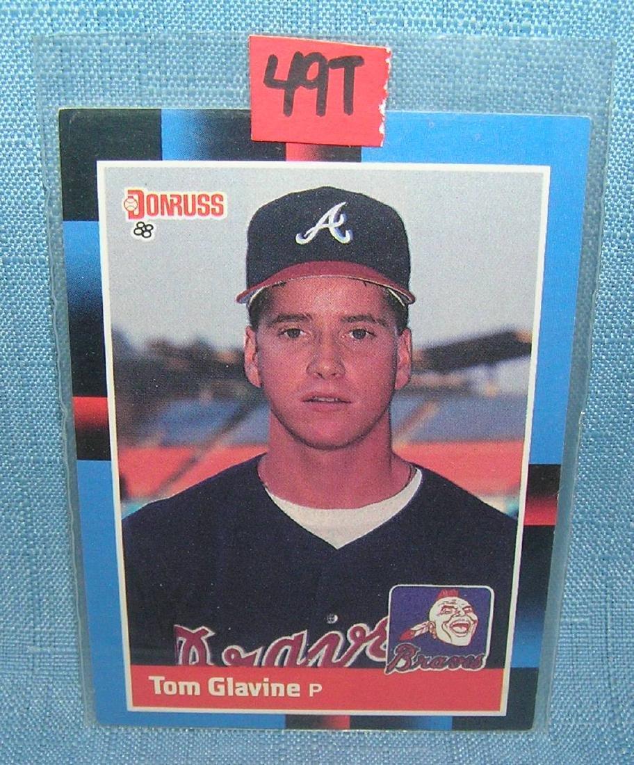 Tom Glavine rookie Baseball card
