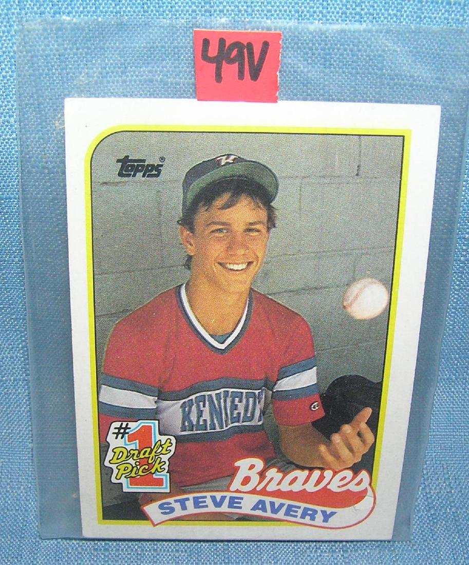 Steve Avery rookie Baseball card
