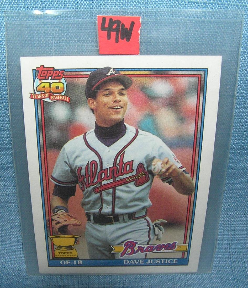David Justice rookie Baseball card