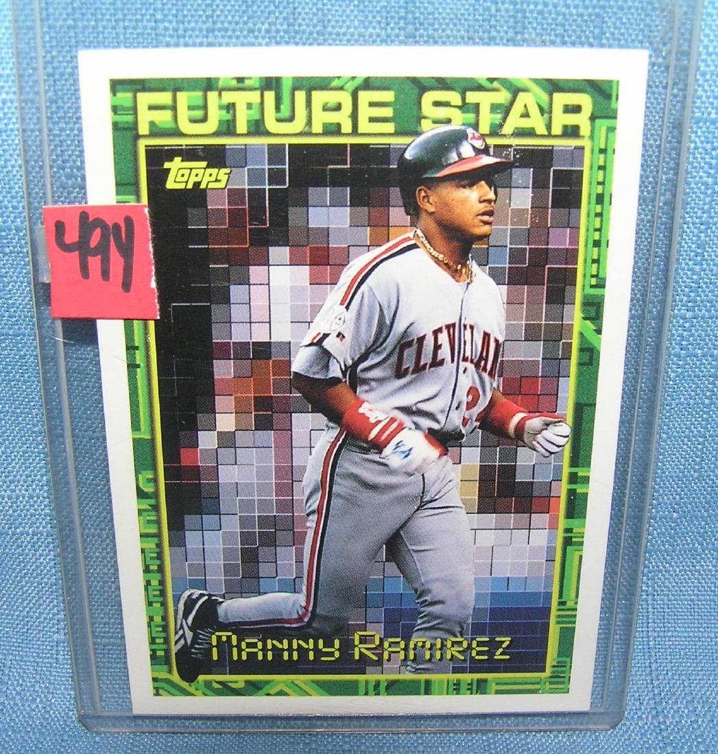 Manny Ramirez rookie Baseball card
