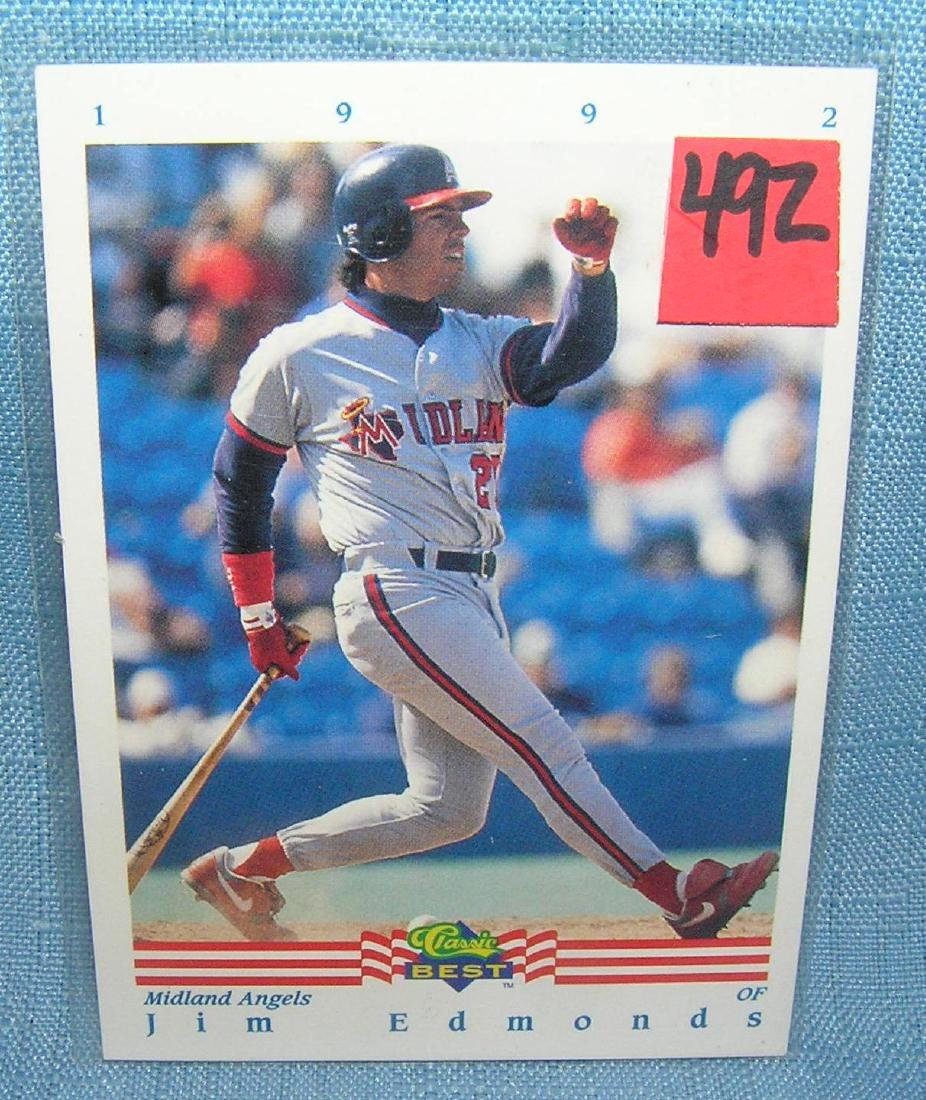 Jim Edmonds rookie Baseball card