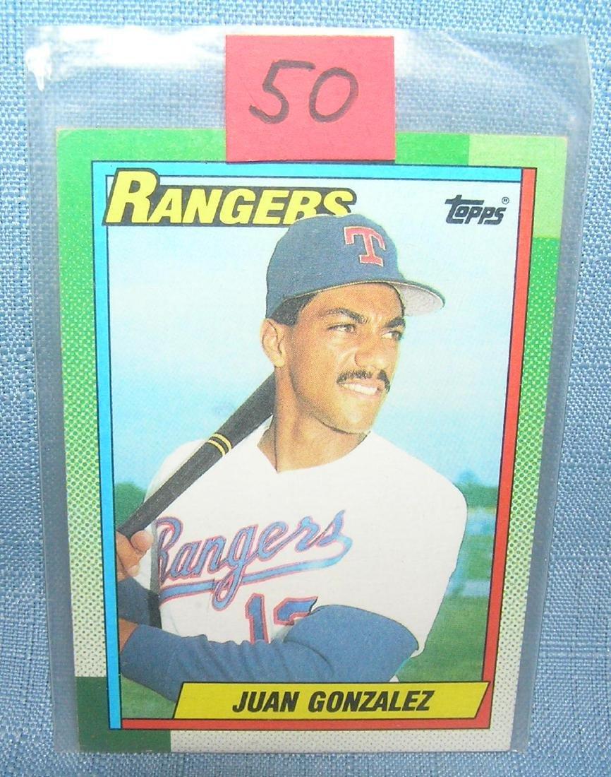 Juan Gonzalez rookie baseball card