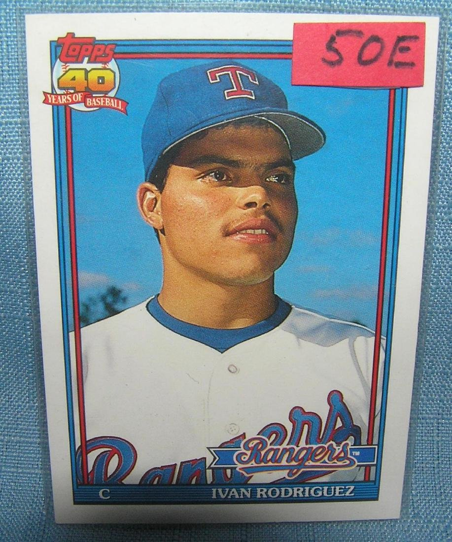 Ivan Pudge Rodriguez rookie baseball card