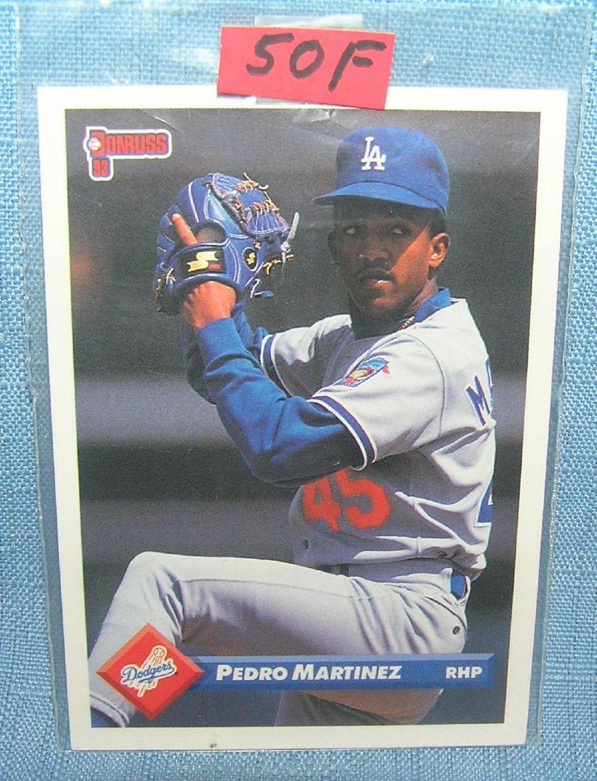 Pedro Martinez rookie baseball card