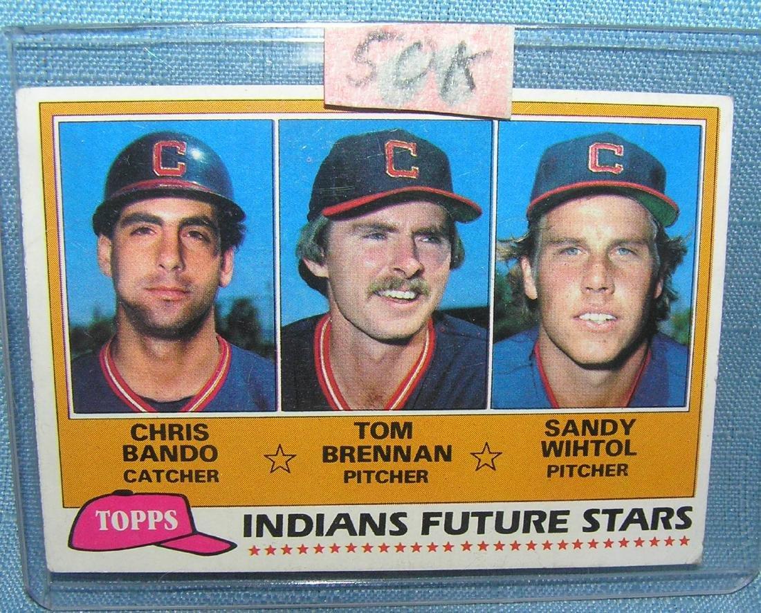 Chris Bando rookie baseball card