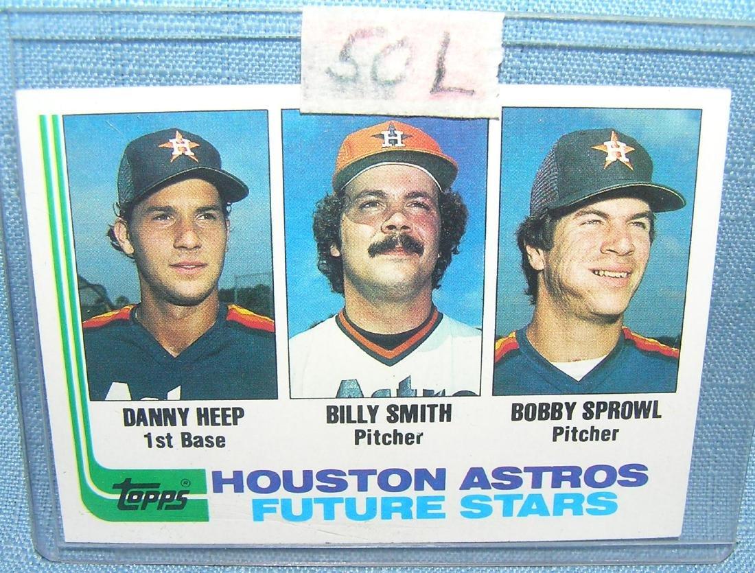 Danny Heep rookie baseball card