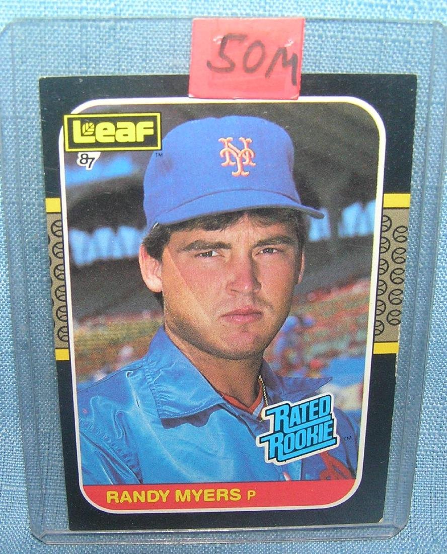 Randy Meyers rookie baseball card