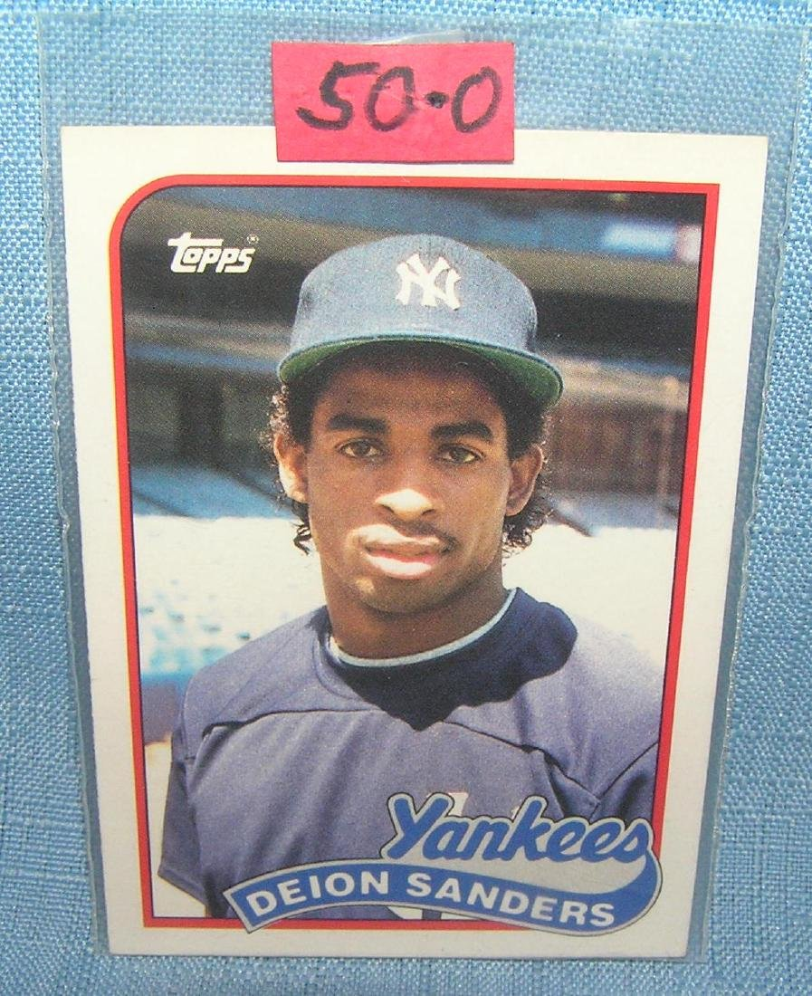 Deion Sanders rookie baseball card