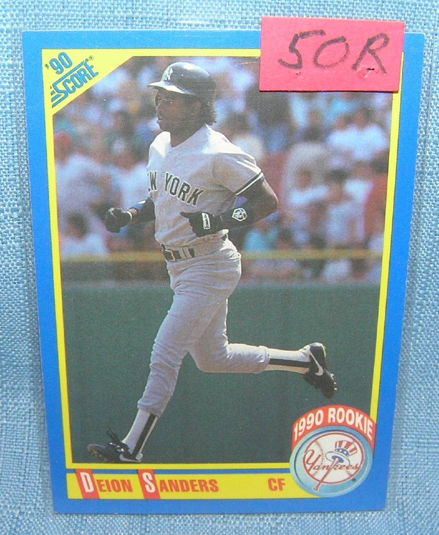 Deion Sanders rookie baseball card