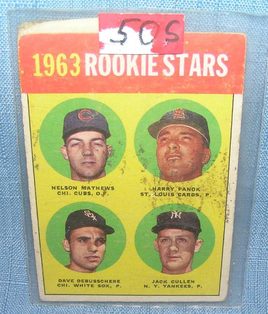 Dave Debusschere rookie baseball card