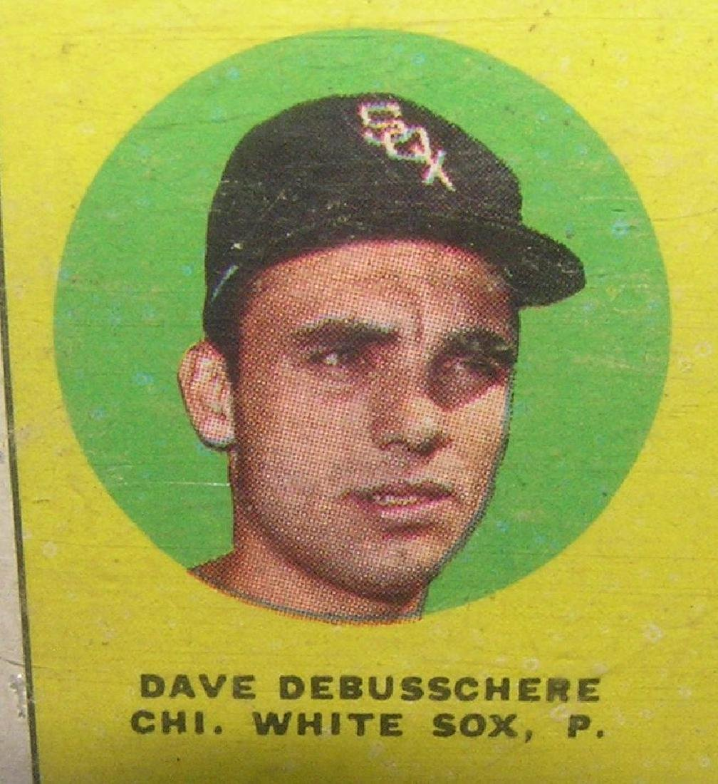 Dave Debusschere rookie baseball card - 2