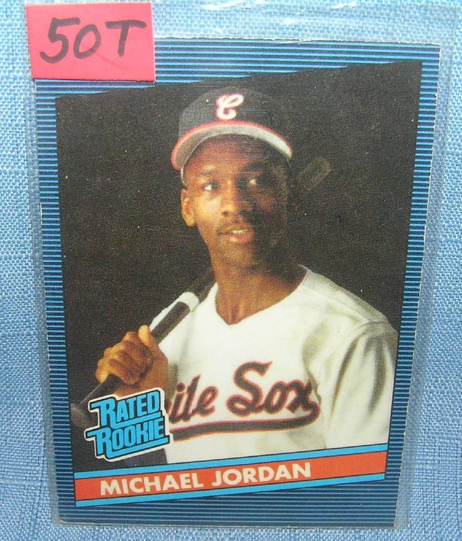 Michael Jordan rookie baseball card