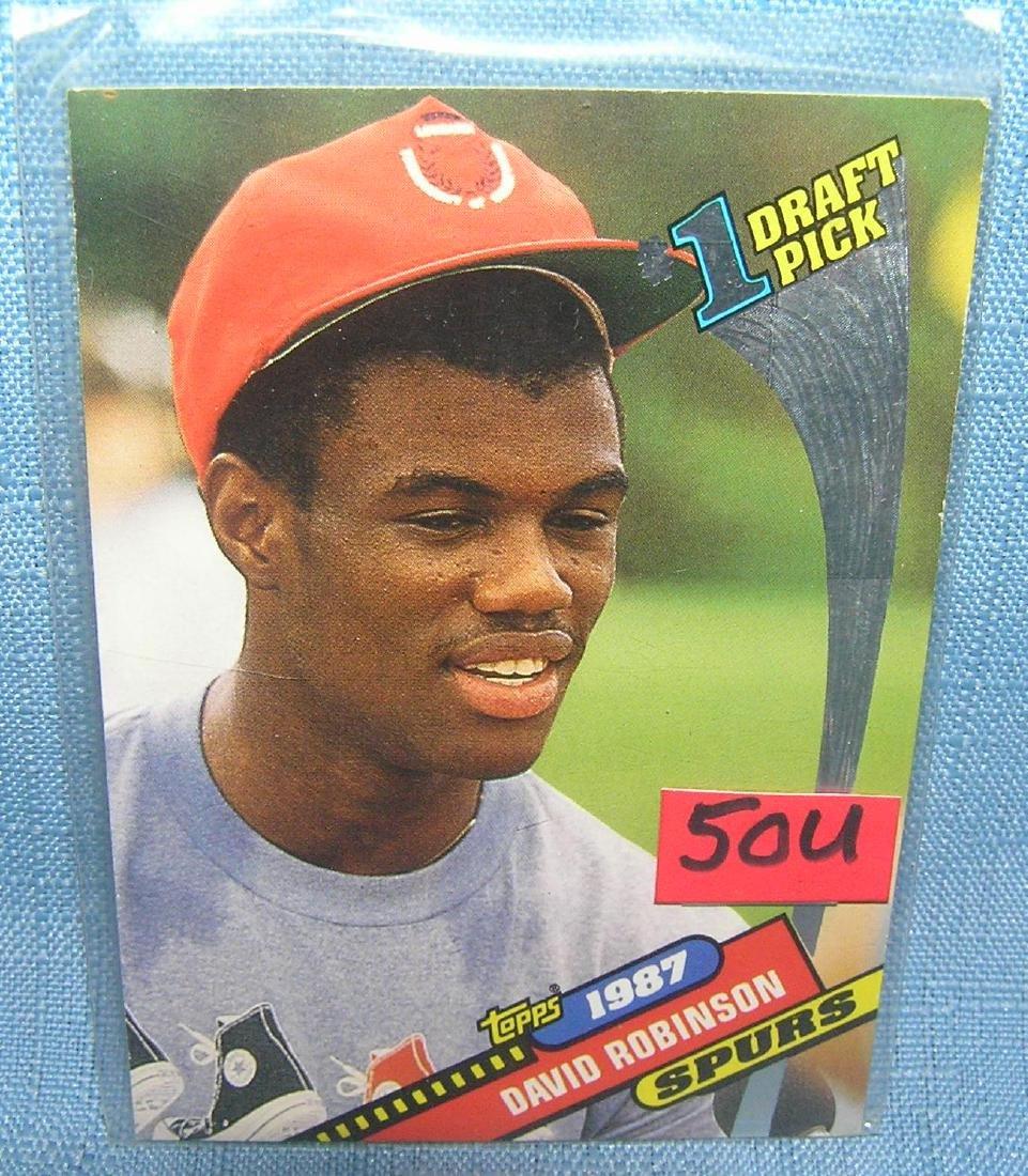 David Robinson rookie baseball card