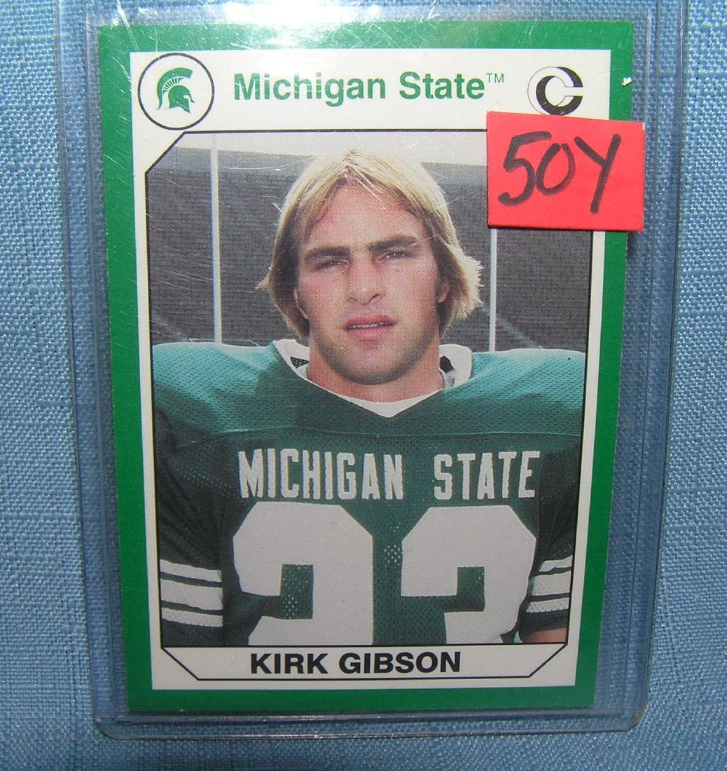 Kirk Gibson Michagan State football card
