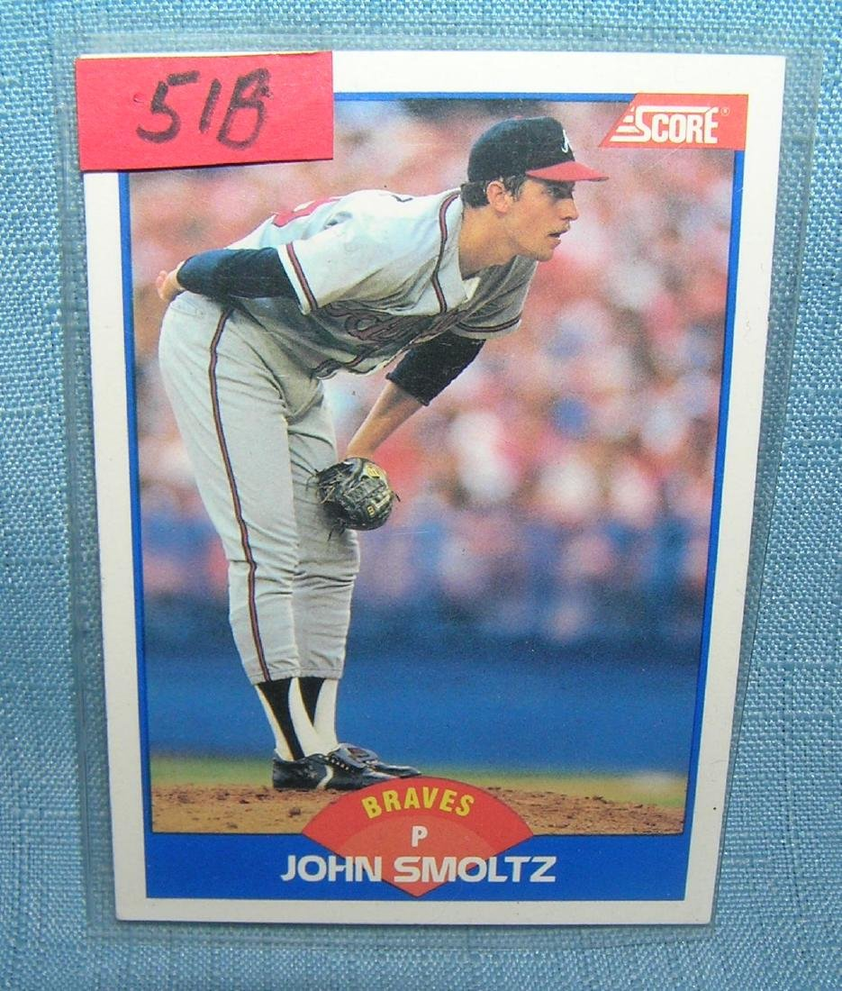 John Smoltz rookie baseball card