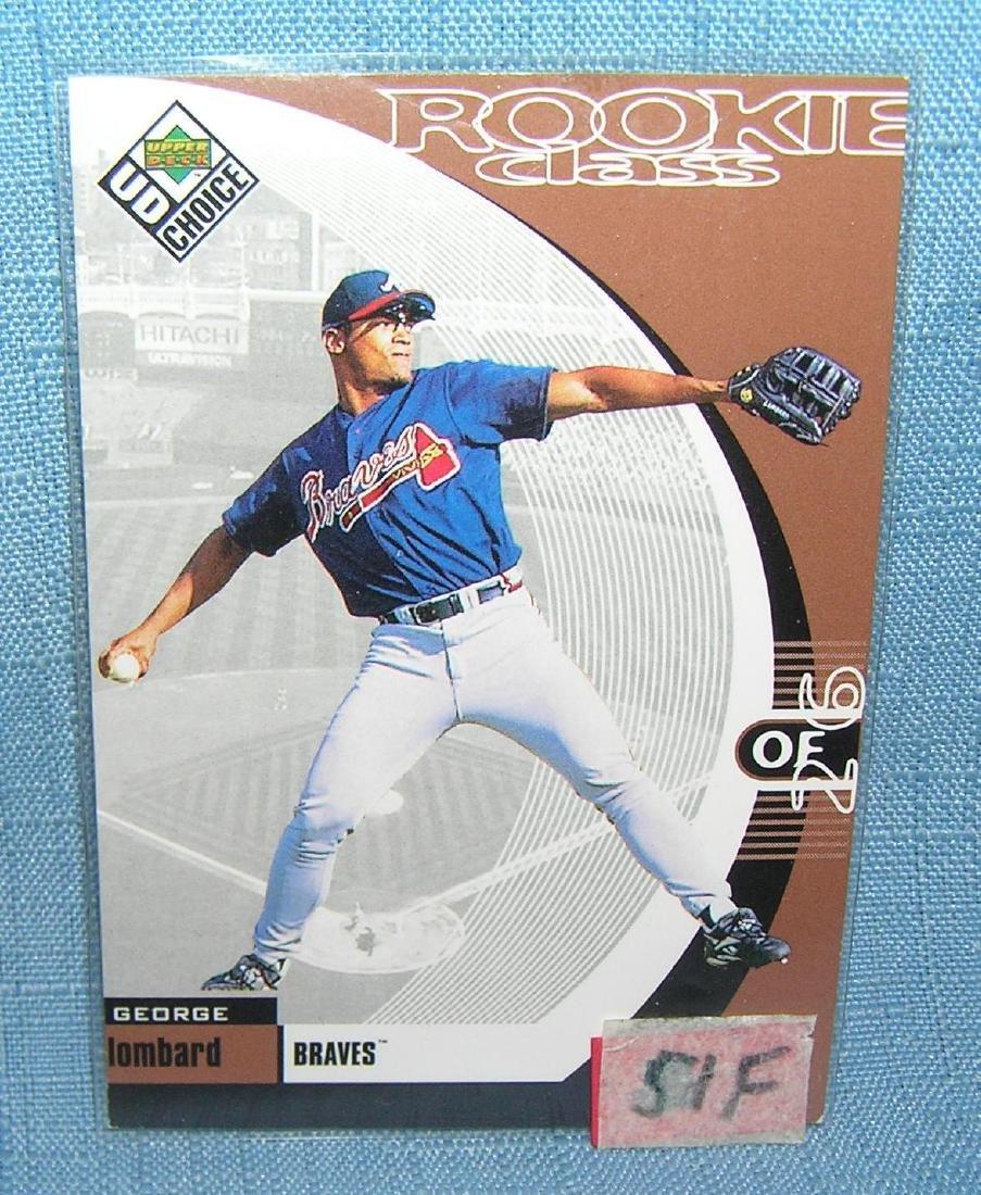 George Lombard rookie baseball card