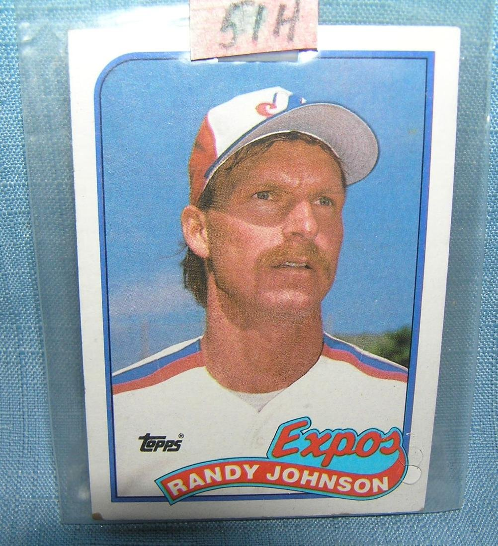 Randy Johnson rookie baseball card