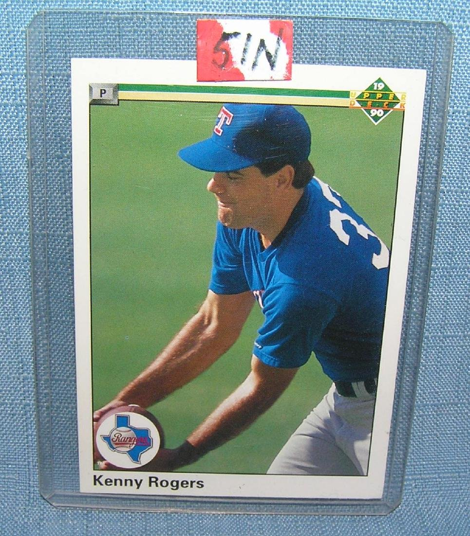 Kenny Rogers rookie baseball card